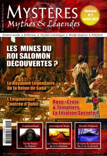 Zoom sur le numéro 2 de Mystères Mythes et Légendes couv2