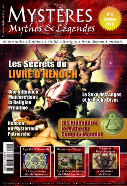 Le numéro 3 de Mystères Mythes et Légendes en kiosques le 1er octobre ! couv3