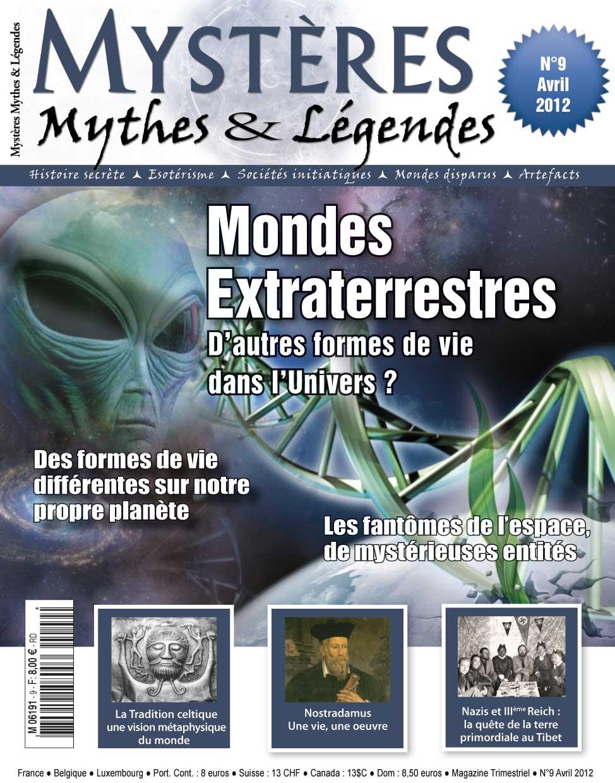 Avril 2012 : Mystères, Mythes & Légendes n°9 est en kiosques ! mml9